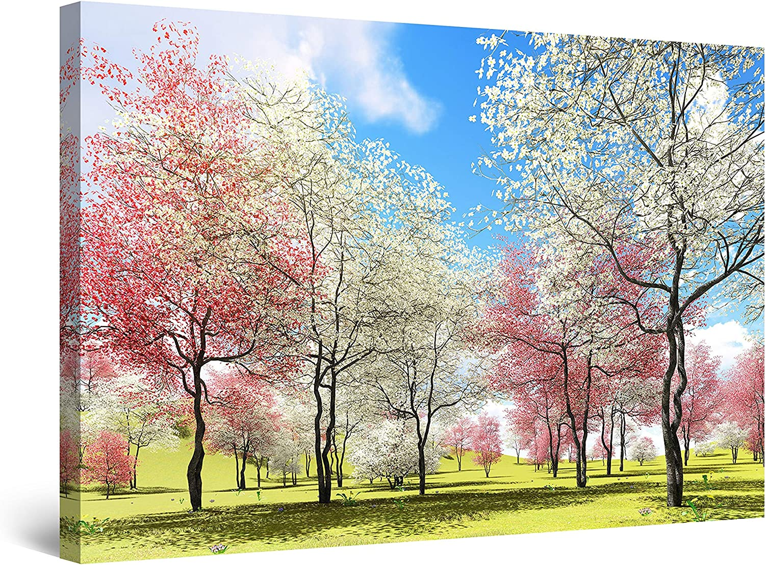 Startonight Canvas In stock Wall Our shop OFFers the best service Art Heaven with Trees White Landscape Pi