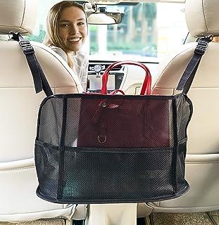 دارنده کیف دستی جیبی اتومبیل ، سازمان دهنده مش اتومبیل ، کیف توری پیشرفته صندلی عقب لوازم جانبی لوازم جانبی اتومبیل