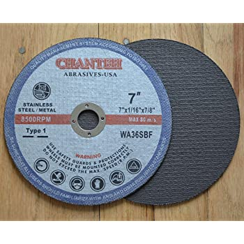 "25-Pk 7/"" x 1//16/"" x 7//8/"" Cut Off Wheel Metal//Stainless Steel Thin Cutting Discs"
