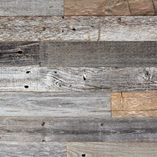 Epic Artifactory DIY Reclaimed Barn Wood Wall - Easy Peel and Stick Application, 20 sq. ft.