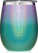 BrüMate Uncork'd XL 14oz Wine Glass Tumbler With Splash-proof Lid - Made With Vacuum Insulated Stainless Steel (Glitter Pe...