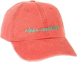 5e6e9e534 Delta Phi Epsilon (N) Sorority Baseball Hat Cap Cursive Name Font DPhie