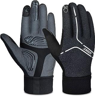 Souke Sports Cycling Bike Gloves Padded Warm Full Finger Bicycle Gloves Shock-Absorbing Anti-Slip MTB Road Biking for Men/...