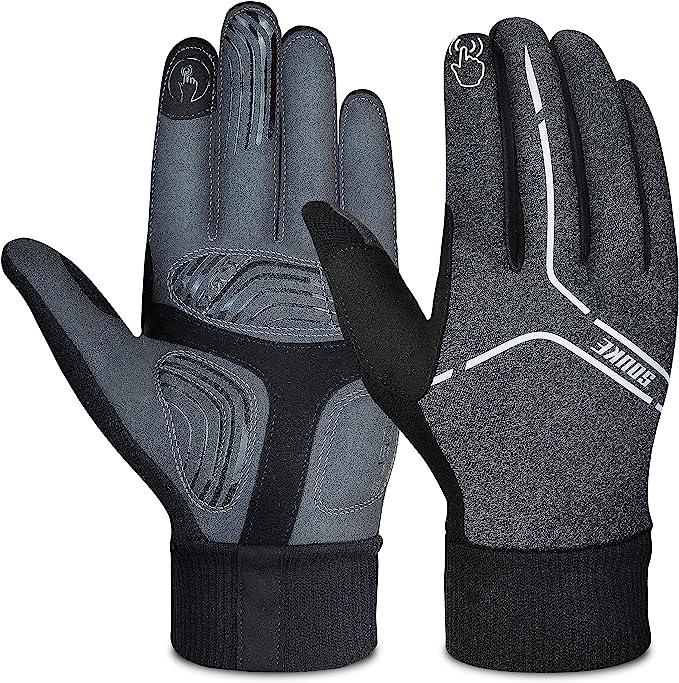Souke Sports Winter Cycling Gloves Men Women Water Resistant Windproof