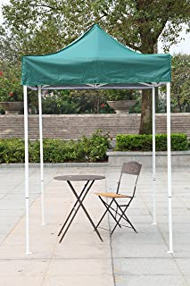 American Phoenix Canopy Tent 5x5 feet Party Tent [White Frame] Gazebo Canopy Commercial Fair Shelter Car Shelter Wedding Party Easy Pop Up (Green)