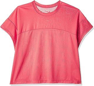Nike Women's Dry Ss Top Crop Cap Slv T-Shirt, Ember Glow , X-Large (NKAO9769-850)