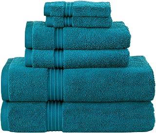 "Soft & Luxuries 6 Pieces Cotton Bath Towel Set, 2 Bath Towels (27x54""), 2 Hand Towels (16x28"") & 2 Washcloths (12x12"") in ..."