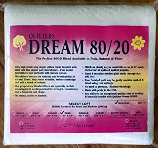 Quilter's Dream 80/20, Natural, Select Loft Batting - Twin Size 93