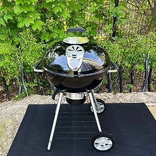 Nicoman HEX-BBQ-150x90 BBQ Grill Floor Protection Mat, Black-HEXO