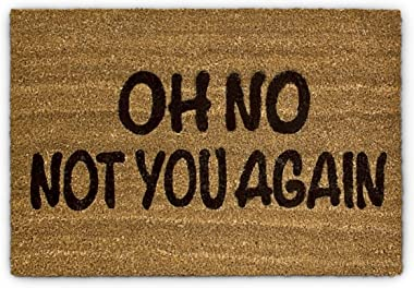 Relaxdays 10017727 Paillasson fibre de coco Oh No Not You again Tapis de sol porte entrée accueil Fibre de coco 60 x 40 cm es