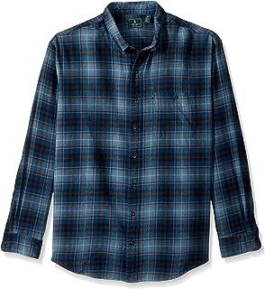 Men's Big and Tall Fireside Flannels Long Sleeve Button Down Shirt