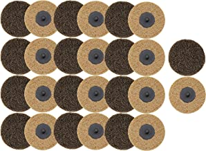 COSPOF 2 Inch Surface Conditioning Disc,Quick Change Sanding Disc,Works with Air and Electric Sander,Features Better Surface Quality and Heat Dissipation -26 Pack (Brown-Coarse)
