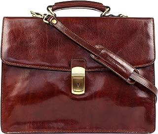 Leather Briefcase, Leather Laptop Bag, Messenger Bag - Time Resistance