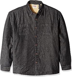 Men's Long Sleeve Sherpa Lined Denim Shirt