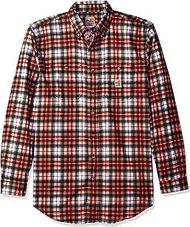 Men's B&t Flame Resistant Classic Plaid Long Sleeve Woven Shirt