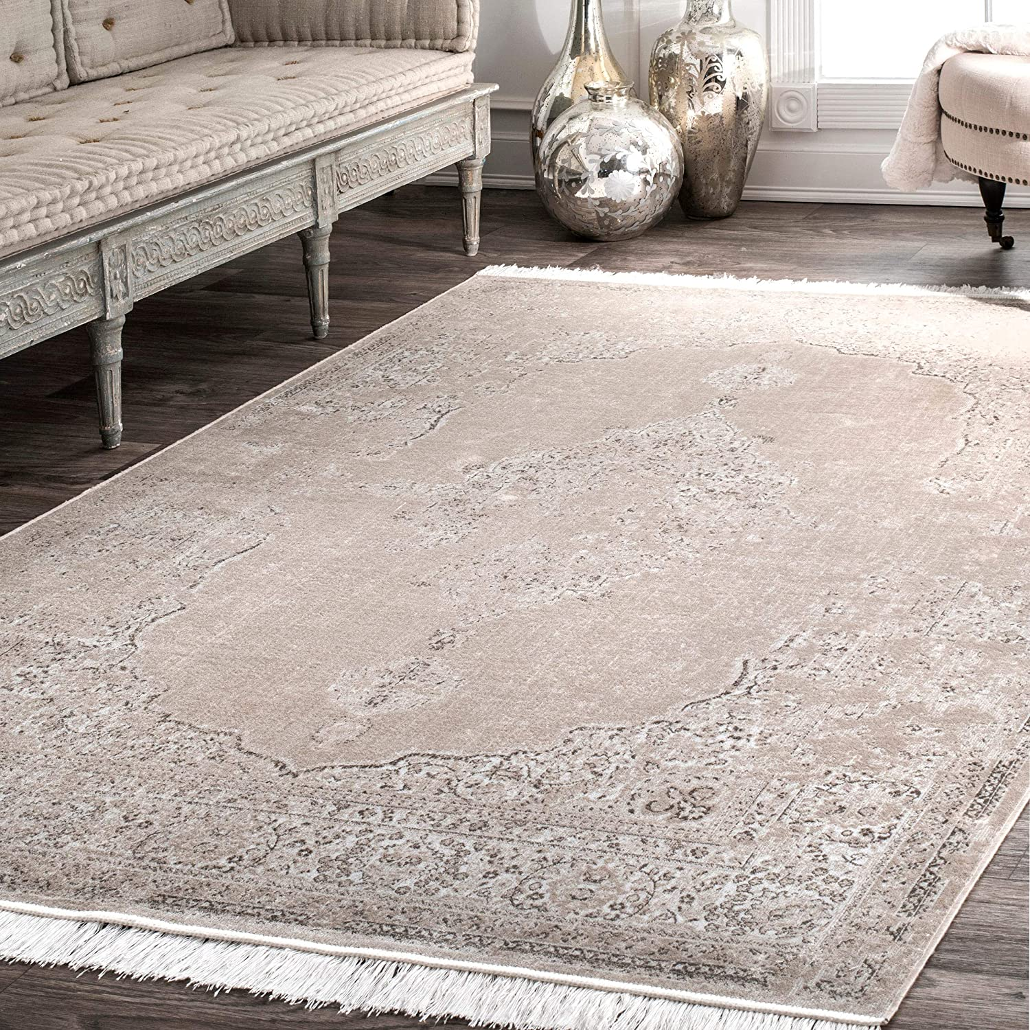 nuLOOM Cantrell Vintage Medallion Area Rug 9' Ranking TOP15 Cash special price Beige 6
