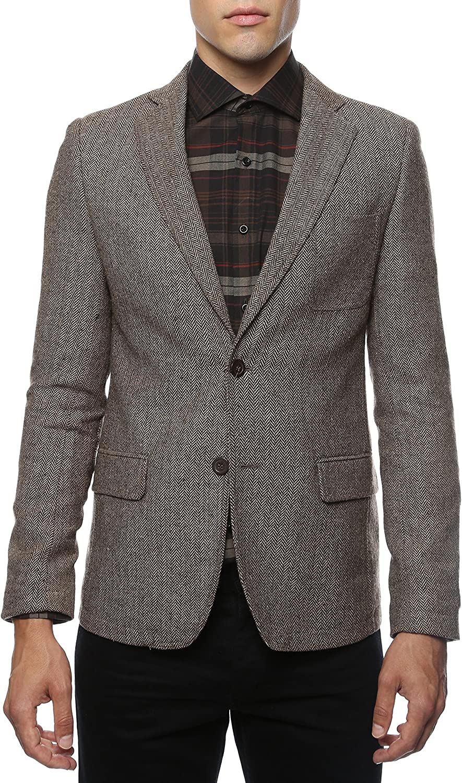 Ferrecci Men's Hardy Herringbone Slim Fit Blazer