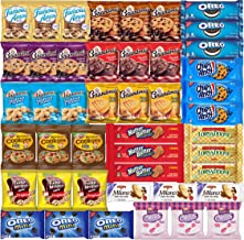 Cookies Individually Wrapped Variety Pack - Cookies Bulk Assortment Care Package Sampler (45 Count)