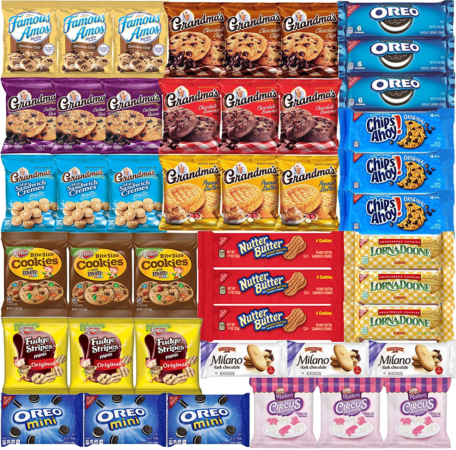 Cookies Individually Wholesale Wrapped Denver Mall Variety Pack Assortm Bulk -