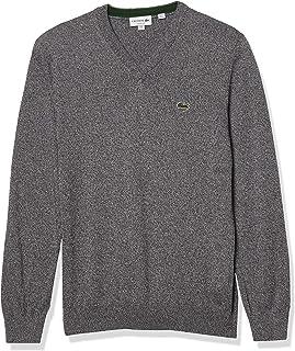 Men's Long Sleeve V Neck Cotton Jersey Sweater