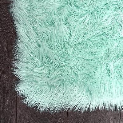 "Home Dynamix Elle Kids Arctic Polar Area Rug 23.6""x35.4"", Textured Mint"