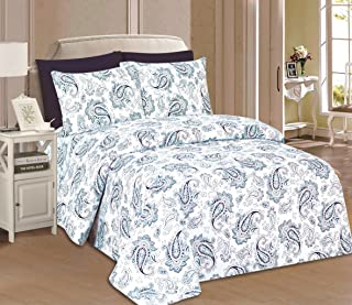 Home Sweet Home Dreams Inc Beverly Hills 1800 Series Ultra Soft Printed 6PC Sheet Set (Queen, Hubery)