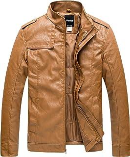 39d062bedf35 Amazon.com  Golds - Leather   Faux Leather   Jackets   Coats ...