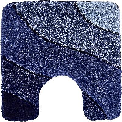 """Kleine Wolke """"Wave"""" Bathroom Mat, Blue, 55 x 55 cm"""