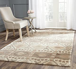 Safavieh Wyndham Collection WYD720A Handmade Natural and Multi Wool Area Rug, 2 feet 6 inches by 4 feet (2'6