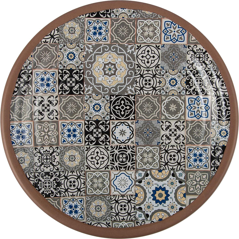 Melange 608410092594 Mgoldccan Tiles Dinner Plates (Pack of 36)