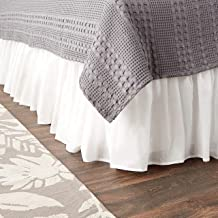 Greenland Home Cotton Voile Dust Ruffle, 15-inch L, White