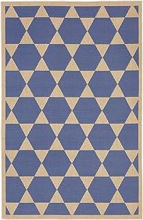 """Liora Manne Veranda Hexagon Stars Rug, Indoor/Outdoor, 39"""" by 59"""", Marine Blue"""
