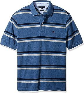 535b12c894d Tommy Hilfiger Men s Big and Tall Big   Tall Stripe Short Sleeve Polo Shirt