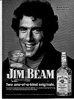 1974 Elliot Gould - Jim Beam Original Magazine Ad-Actor- Star of Mash-Bottoms Up