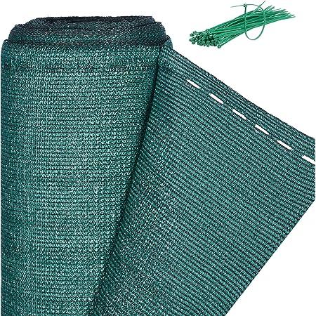 Relaxdays, vert Brise-vue, Paravent pour les clôtures et rambardes, Tissu HDPE, Anti-UV, 2 x 6 mètres, Meter