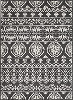 Ashley Furniture Signature Design - Jicarilla Large Rug - Tribal Design - Black/White
