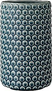 Bloomingville Teal Ceramic Polka Dot Design Vase
