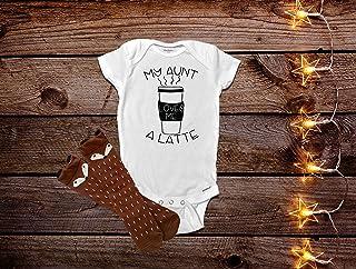 1415865a My Aunt Loves Me A Latte Onesie®, Funny Baby Onesies®, Aunt Onesies