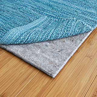"RUGPADUSA, 5'x8', 1/8"" Thick, Basics Felt + Rubber Rug Pad, Non-Slip Rug Pad, Adds Cushion and Floor Protection Under Rugs, Safe for all Floors and Finishes"