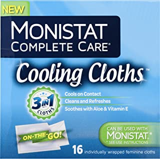 Monistat Care Cooling Cloths   Cools & Soothes   Paraben-Free   16 Count   3 Pack (Package may vary)