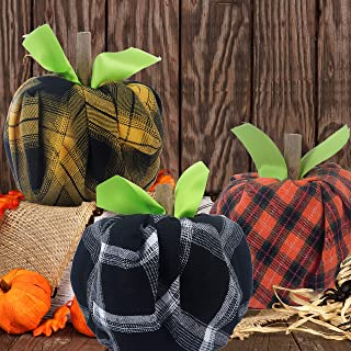 Fall Decorations - Thanksgiving Decorations - DIY Fabric Toilet Paper Pumpkins Craft Kit(Makes 6) - Autumn Decor for Home Kitchen Classroom Farmhouse Porch Table Birthday Party Halloween