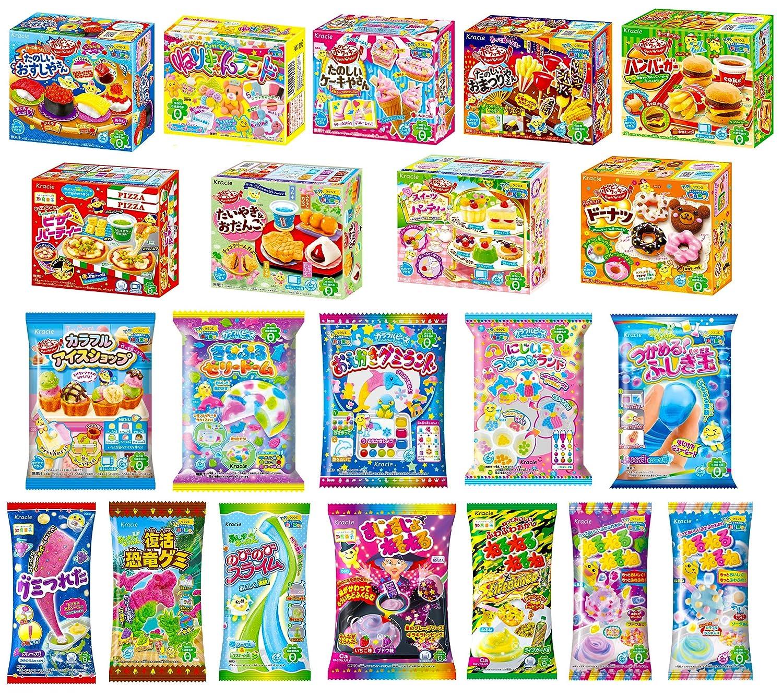 Kracie Popin Cookin Kits 20 DIY trust Max 57% OFF Tracki Candy Sets Airmail Free