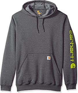 Carhartt Mens B&t Signature Sleeve Logo Midweight Hooded Sweatshirt K288