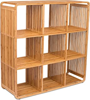 BirdRock Home Bamboo Storage Cube Cabinet - Wooden Storage Cubbies - 9 Cube Storage Unit - Classroom Bedroom Kid's Room Storage Space