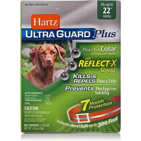 Hartz UltraGuard Plus Reflective Orange Flea & Tick Collar for Dogs and Puppies