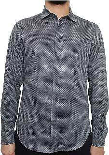Emporio Armani Camisa para hombre 3K1CP51NXTZ azul marino