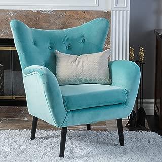 Best danielle light blue velvet arm chair Reviews