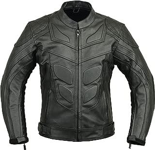 Batman Leather Motorbike Protective Jacket, XXL