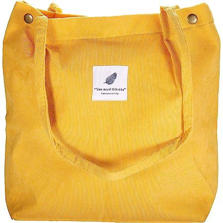 VOKUVIKU Cord Umhängetasche Damen - Cross Body Tasche für Büro Schule Einkauf Reise