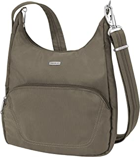 Travelon Anti-Theft Classic Essential Messenger Bag, Nutmeg